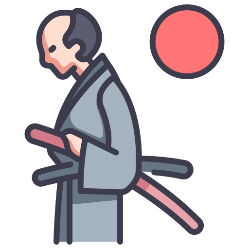 samurai walking